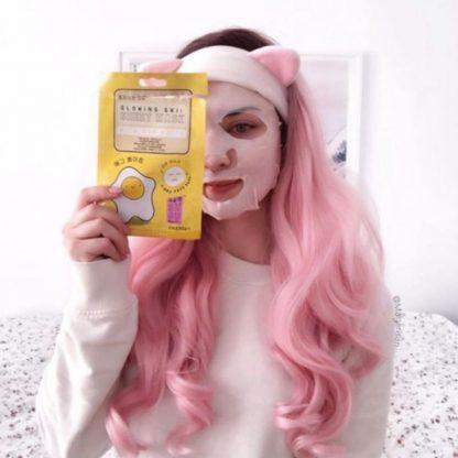 mascara facial clara de ovo