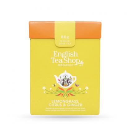 Caixa Folhas de Chá Erva-principe, gengibre e citrinos + colher
